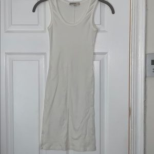 Haute Hippie nude cotton slip dress